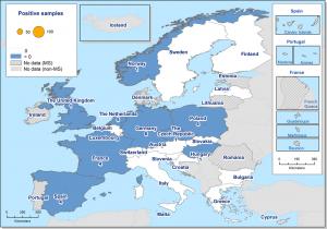 Detecció de Lyssavirus en Ratpenats a Europa el 2015.
