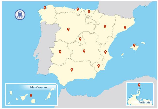 Mapa ICTS