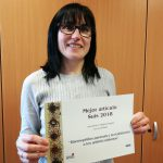 The researcher Virgina Aragón awarded with the best article in Suis magazine of 2018