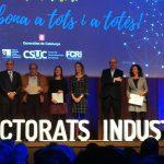 Reconeixement dels Doctorats Industrials dels projectes concedits l'any 2015