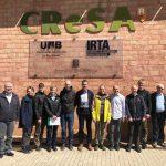 "Veterinarians of the ""Landbrugets Veterinære Konsulenttjeneste"" visit IRTA-CReSA, sponsored by MSD"