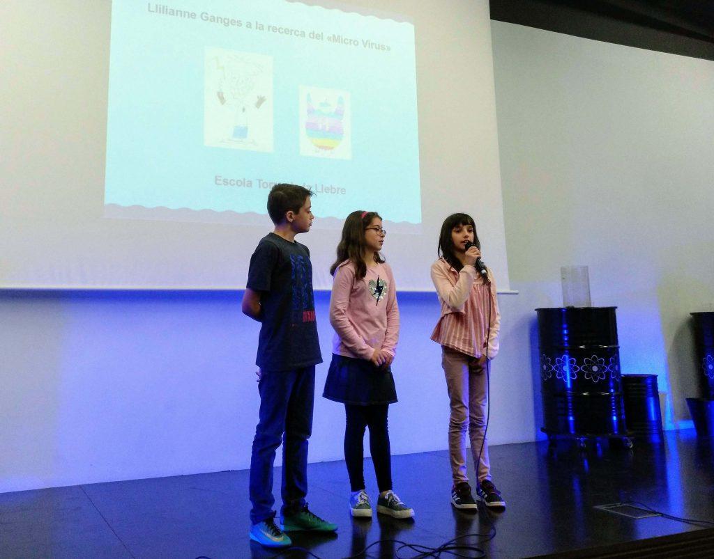 Exposició del videojoc durant la cerimònia.