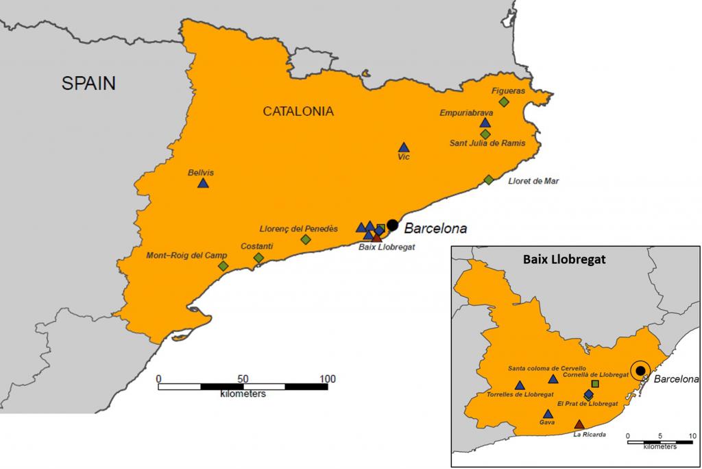 Els experiments s'han fet amb mostres de mosquits de diferents punts de Catalunya.